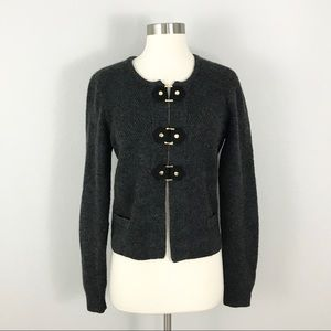 Cynthia Rowley Large Cardigan Sweater Gray